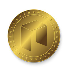 golden neo coin vector image