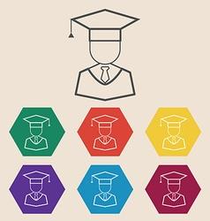 Graduation Icon Set vector image
