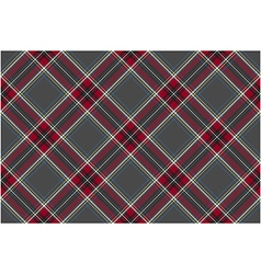 Gray red diagonal check fabric texture seamless vector