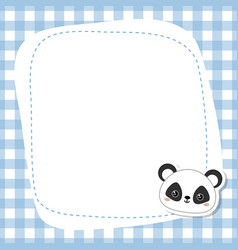 Greeting card with panda face greeting card with vector
