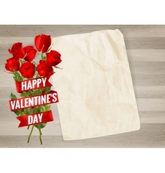 Happy Valentines Day background EPS 10 vector image
