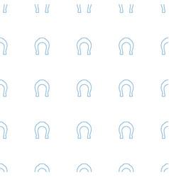 Horseshoe icon pattern seamless white background vector