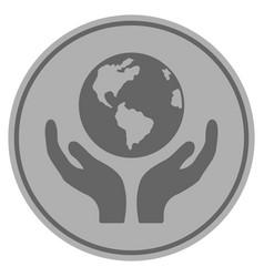 international insurance silver coin vector image