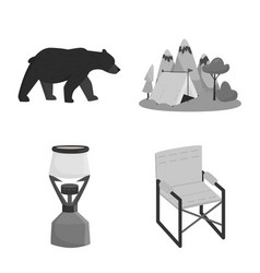 isolated object recreation and tourism icon vector image