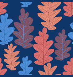 leaves pattern seamlss vector image