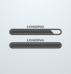 Loading uploading downloading status bar icon vector image