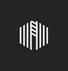 logo letter n vector image