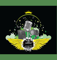 Logo vocal vector