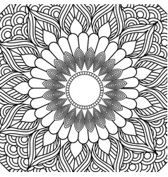 mandala decorative ethnic element adult coloring vector image