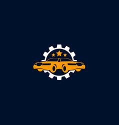 mechanic logo design gold car logo template vector image