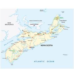 Nova scotia road map canada vector
