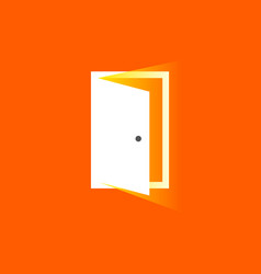 Open door icon in trendy flat style symbol for vector
