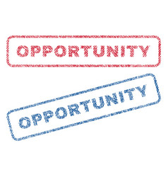 opportunity textile stamps vector image