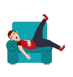 Person sleeping icon vector