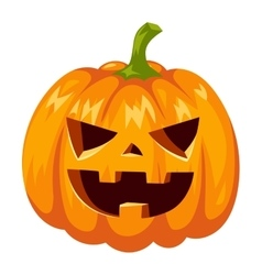 Pumpkin head vector image