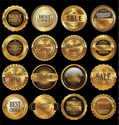 quality golden labels collection vector image