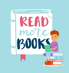 read more books concept for education and school vector image