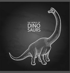 Realistic graphic dinosaur vector
