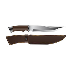 Realistic hunting knife vector