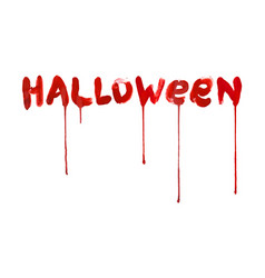 red bloody halloween lettering vector image