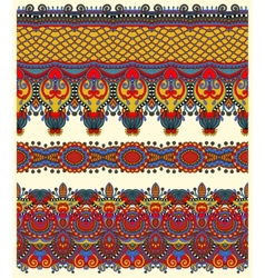 Seamless ethnic floral paisley stripe pattern vector