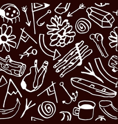 Seamless pattern in style hand-drawn vector