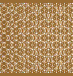 Seamless traditional japanese ornamentgolden vector