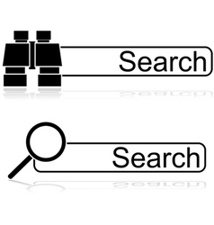 Search options vector image