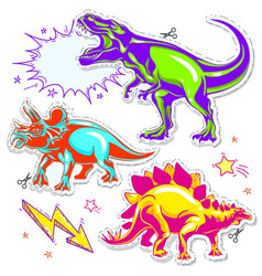 set dinosaurs of vector image