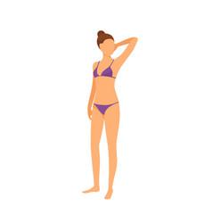 spa salon woman in bra and bikini isolated vector image