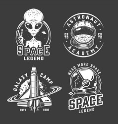 space and galaxy logotypes vector image