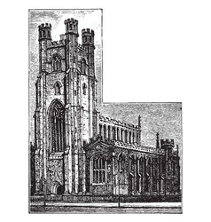st marys church cambridge historic england vector image