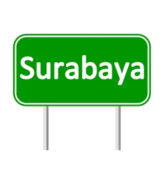 Surabaya road sign vector