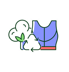 Sustainable activewear rgb color icon vector