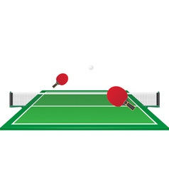 Table tennis ping pong vector