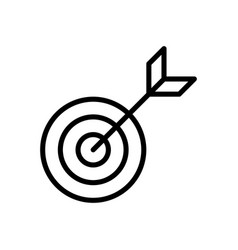 Target goal icon vector