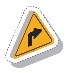 traffic signal with arrow isometric icon vector image