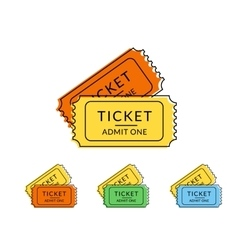 Two retro tickets vector image