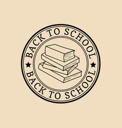 vintage back to school logo retro emblem vector image