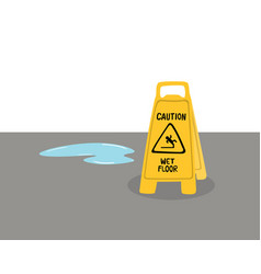 warning signs beware slippery floors vector image