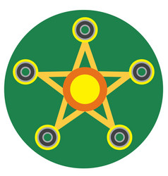 yellow spinner in the form of a star vector image