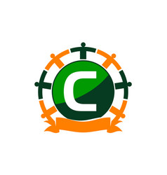 synergy logo initial c vector image