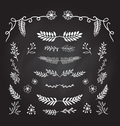 hand drawn decorative elements vector image