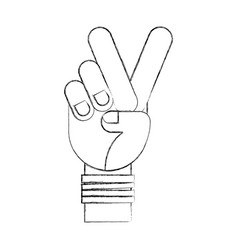 hand human peace and love symbol vector image