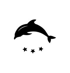 Dolphin logo icon design element vector image