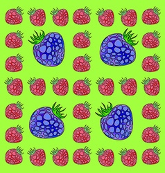 Frame made of raspberries and blackberries vector image