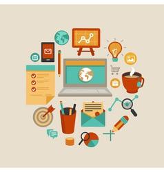 Freelance work concept vector