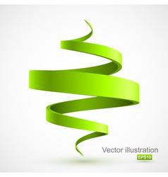 Green spiral 3D vector image vector image
