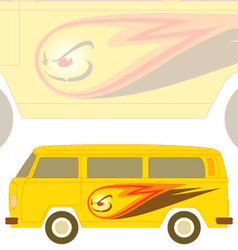 groovy camper vector image vector image