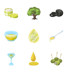 olives tree branch and other products from vector image vector image